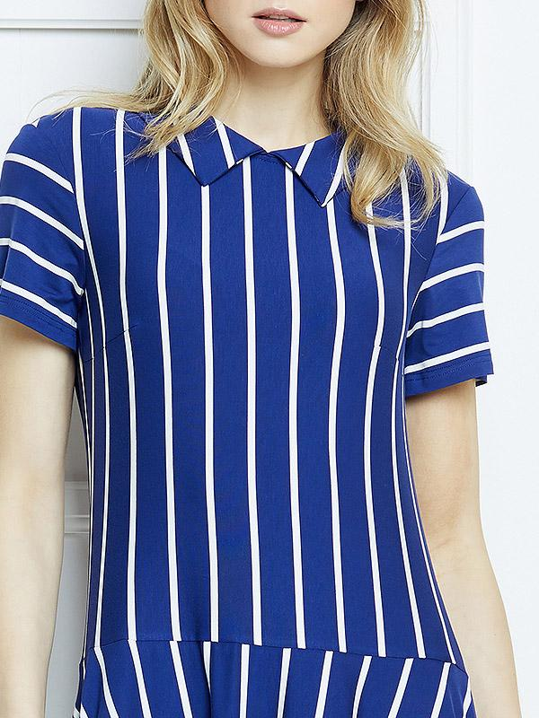 "Lega kleita ""Hailey Blue - White Stripes"""